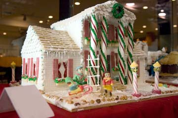 Ginger bread candy cane mansion Home