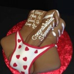 Long-Dong-slipping-out-of-red-heart-G-string-adult-cake