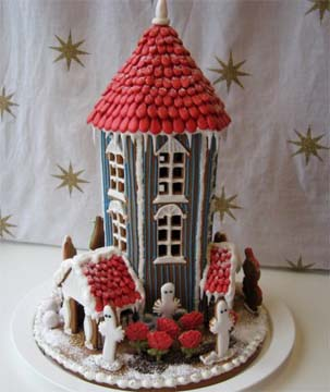 Too Tall circular tower gingerbread house custom model Home
