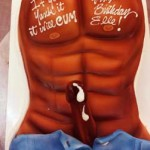 Mysterious-shaded-vibrant-dick-cums-out-of-his-paints-adult-torso-cake